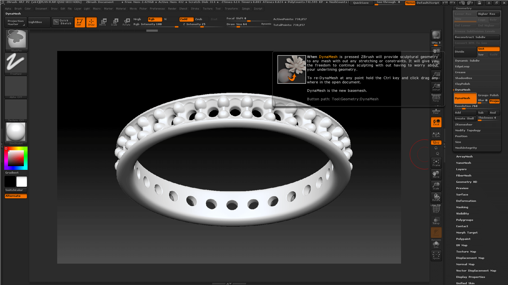 cac0de5e5409 Как правильно делать булевы операции в ZBrush - Школа современного  ювелирного дизайна J-design.pro