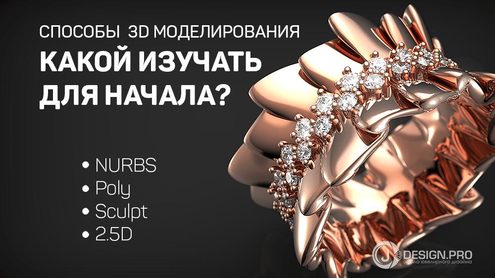 31ab8be350bd Способы 3D моделирования. Какой выбрать новичку  - Школа современного  ювелирного дизайна J-design.pro